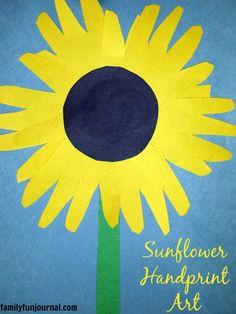 Sunflower Handprint Art Craft & Sunflower Paper Plate Craft | Girl Scouts by Christy Lee | Pinterest ...
