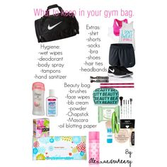 What to keep in your gym bag. by alexxandrahenry on Polyvore featuring polyvore, beauty, Rimmel, Maybelline, NYX, COVERGIRL, Forever 21, Victoria's Secret PINK, Chapstick and Under Armour
