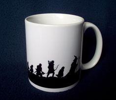 Fellowship of the Ring coffee mug by GelertDesign on Etsy, £6.50