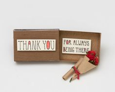 Thank you card Matchbox / Gift box / Message box Thank by shop3xu
