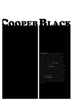 cooper black type poster