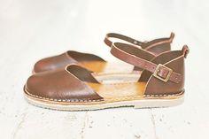 SALE 20% OFF: Brown Sandals Brown Handmade Sandals Peep by Crupon