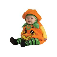 Pumpkin Jumper Costume - Baby, Infant Unisex, Size: 6-12MONTHS, Multicolor