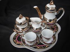 GORGEOUS Miniature Royal Tea Set For Two Very Cute