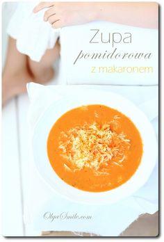 Tomatoes soup - Soup with tomatoes - Tomatoes soup with pasta Cantaloupe, Pasta, Fruit, Tableware, Recipes, Tomatoes, Food, Easy Meals, Dinnerware
