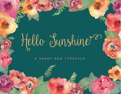 Hello Sunshine Script by Emily Spadoni on @creativemarket