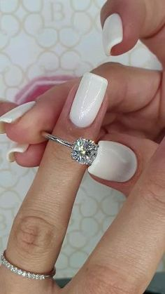Round Solitaire Engagement Ring, Beautiful Engagement Rings, Engagement Ring Cuts, Engagement Rings White Gold, Cushion Cut Engagement, Popular Engagement Rings, Wedding Rings Solitaire, Round Diamond Ring, Vintage Engagement Rings