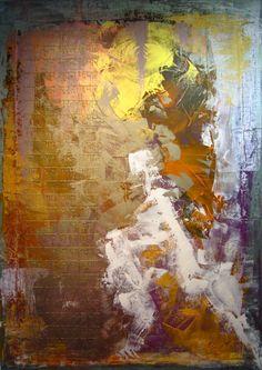 Couloir de Vie.  Peinture sur bois 140 X 100cm.  Technique mixte.