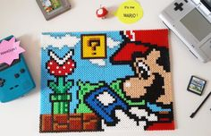 Super Mario hama beads by Bellifimo