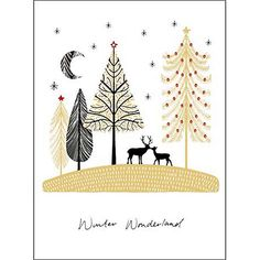 Designed by Amy Eastland for - Woodmansterne Deer Love Charity Christmas Cards, Box of 5 Online at johnlewis.com