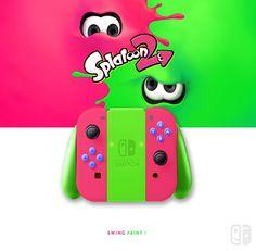 Nintendo Splatoon 2, Collector edition. joycon, nintendo switch, dock, joy-con