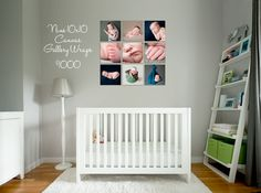 canvas gallery wraps {nursery} - should use lighter and similar colored photos to fit in more with the room.