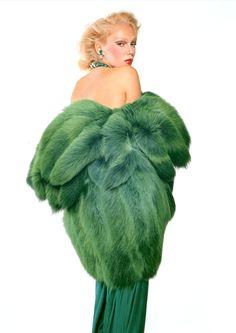 Gian Paolo Barbieri, 1971 Yves Saint Laurent, dyed fox fur. Model: Susan Robinson.