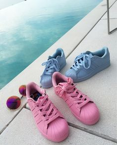 online store e426d 6dd9a Adidas Originals Superstar Supercolor clear sky blue   pink    definitely  wanting them Addidas Sneakers