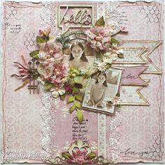 Hello **Maja Design & Tresors de Luxe** - Maja Design Sofiero collection http://gabriellepollacco.blogspot.ca/2014/06/scrapping-pink-maja-design-and-tresors.html