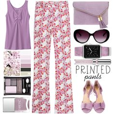 How To Wear Printed pants - Top Set 8 19 16 Outfit Idea 2017 - Fashion Trends Ready To Wear For Plus Size, Curvy Women Over 20, 30, 40, 50