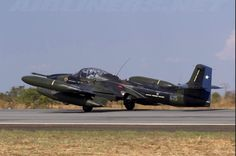 A Chilean A-37 takes off.