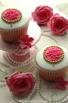 lovely cupcakes with pearls