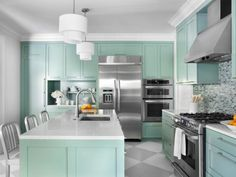 HGTV has inspirational pictures, ideas and expert tips on the best colors for painting kitchen cabinets.
