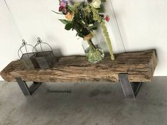 Furniture Projects, Wood Furniture, Outdoor Furniture, Outdoor Decor, Handmade Home Decor, Beams, Repurposed, House Design, Interior