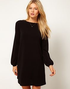 Shift Dress With Blouson Sleeve, $53