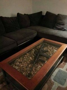 Gun and ammo coffee table