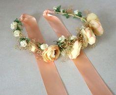 Fall wedding floral headpiece flower crown Bridal by AmoreBride, $58.95