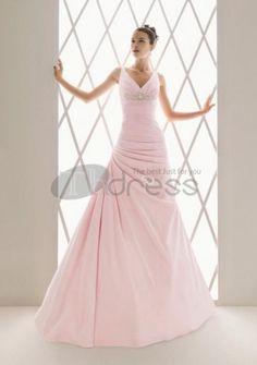 Abiti da Sposa Colorati-Scollo a v abiti da sposa colorati perline di lavoro