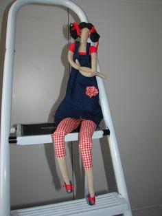 Muñeca de tela Tilda en jeans vestir muñeca de por Goodmoodlive, $19,99