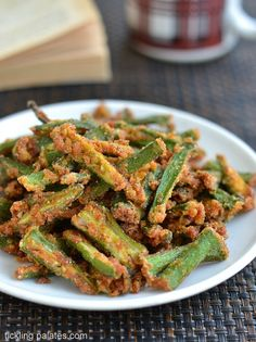 Crispy Okra Fry - Vegan and tastes delicious as a snack.
