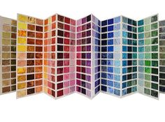 Hoffman 1895 Bali Watercolor Color Card #fabric #quilting #quilts #balibasic #hoffmanfabrics