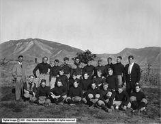 University of Utah football team photo from 1910. (Courtesy Utah State Historical Society)