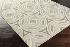 Perspective Area Rug | Off-White Geometric Rugs Hand Tufted | Style PSV41
