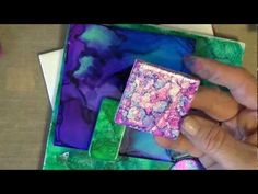 ▶ Spectrum Noir Alcohol Ink on tiles and fabric - YouTube