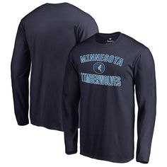 Minnesota Timberwolves Fanatics Branded Victory Arch Long Sleeve T-Shirt -  Navy 3907b27f6