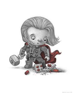 Personally Signed by the artist, a perfect gift for anyone. This is one of over 100 pop culture characters, re-imagined as a young child and painstakingly designed and drawn in high resolution on an iPad Pro of all things. Then professionally printed on quality paper and personally
