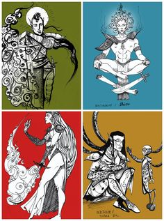 Inktober: Morrowind's Tribunal + Nerevar by DraumWitch on DeviantArt