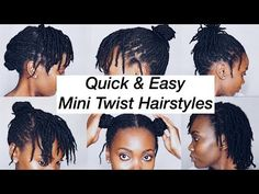 Short Twists Natural Hair, 4c Natural Hairstyles Short, Short Locs Hairstyles, Flat Twist Hairstyles, Braided Hairstyles For Wedding, Easy Hairstyles For Long Hair, Braids For Short Hair, Natural Hair Styles, Styling Short Locs