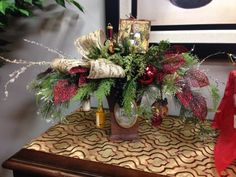 Fun wine holiday floral.