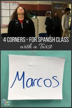 4 Corners (with a twist) in Spanish class
