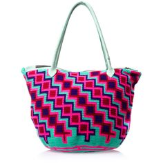 SOPHIE ANDERSON Luz geometric woven tote ($370) ❤ liked on Polyvore featuring bags, handbags, tote bags, pink, leather tote, woven leather handbag, pink leather handbags, zip top leather tote and genuine leather tote
