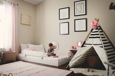 Oh Happy Play - Montessori Themed Bedroom:  A big component to this style room…