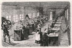 Interno di un filanda di seta da Illustrazione popolare 1872