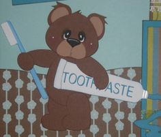 baby boy scrapbook page ideas | First Tooth BOY Girl Premade Scrapbook Pages TSPD CBC | eBay