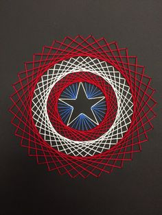 Captain America string art.