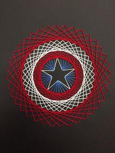 Captain America string art.