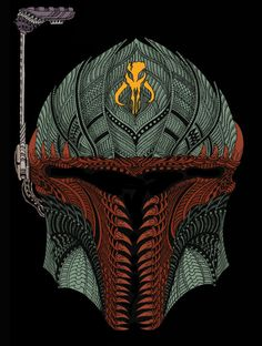 TieFighters- Boba Fett a zentangle?