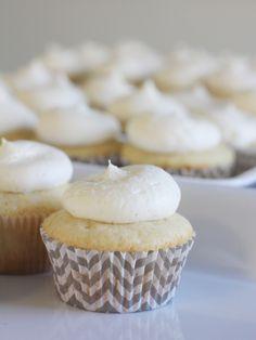 vanilla bean cupcakes with vanilla bean buttercream!