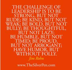 The challenge of leadership, John Rohn