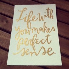Custom Hand Lettered Quote Painting / Gold by SmallBatchPrints, $25.00